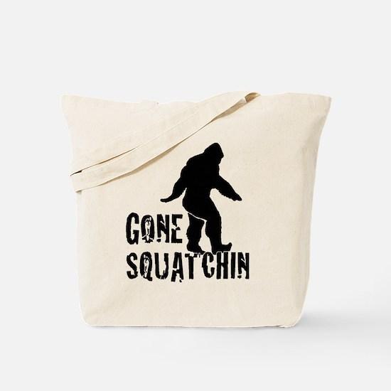 Gone Squatchin print Tote Bag