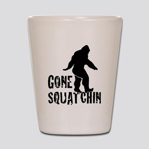 Gone Squatchin print Shot Glass