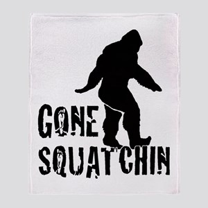 Gone Squatchin print Throw Blanket