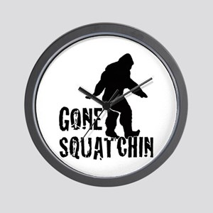 Gone Squatchin print Wall Clock
