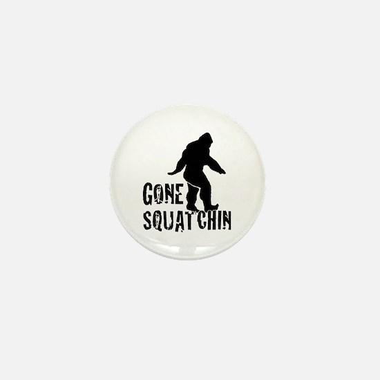Gone Squatchin print Mini Button