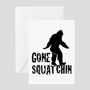 Gone Squatchin print Greeting Card