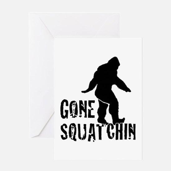 Gone Squatchin print Greeting Card