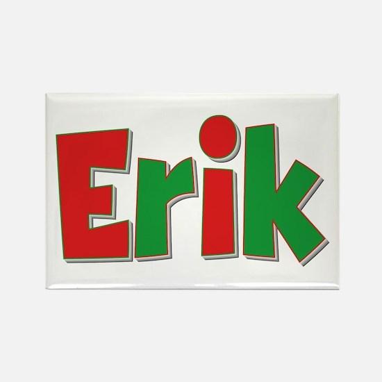 Erik Christmas Rectangle Magnet