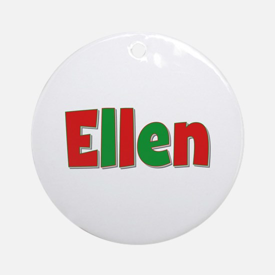 Ellen Christmas Round Ornament