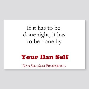 Your Dan Self Sticker (Rectangle)