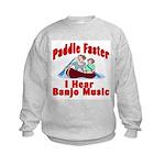 Paddle Faster I Hear Banjo Mu Kids Sweatshirt