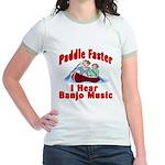 Paddle Faster I Hear Banjo Mu Jr. Ringer T-Shirt