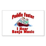 Paddle Faster I Hear Banjo Mu Sticker (Rectangular