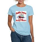 Paddle Faster I Hear Banjo Mu Women's Pink T-Shirt