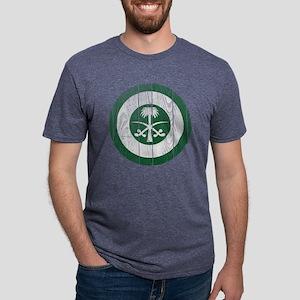 Saudi Arabia Roundel Wood.p Mens Tri-blend T-Shirt