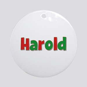 Harold Christmas Round Ornament