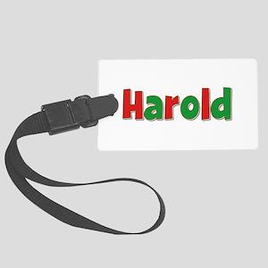 Harold Christmas Large Luggage Tag