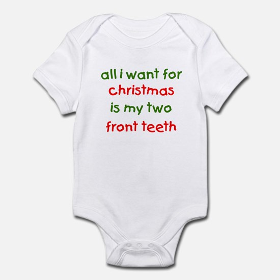 Two Front Teeth for Xmas Infant Bodysuit
