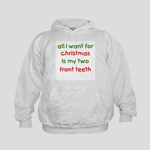 Two Front Teeth for Xmas Kids Hoodie