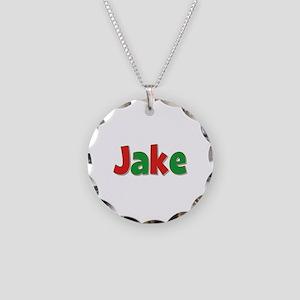 Jake Christmas Necklace Circle Charm
