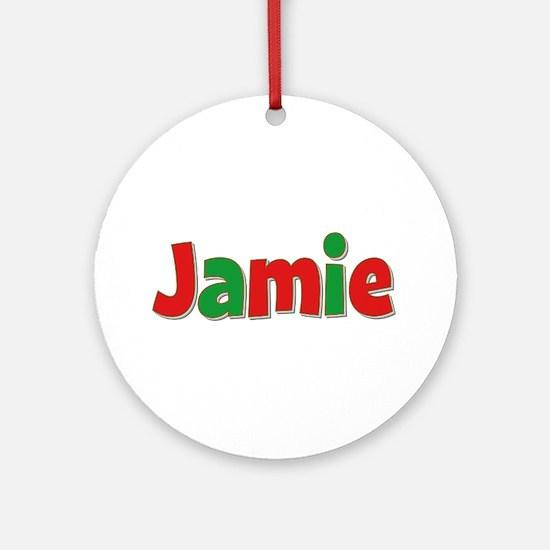 Jamie Christmas Round Ornament