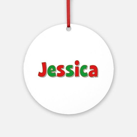 Jessica Christmas Round Ornament
