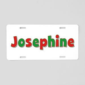 Josephine Christmas Aluminum License Plate