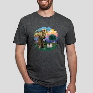 St Francis (ff) - Ragdoll C Mens Tri-blend T-Shirt
