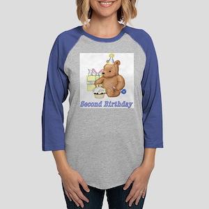 BirthdayTeddy-2 Womens Baseball Tee