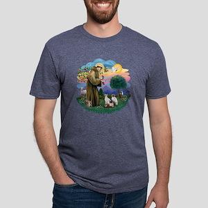 St Francis (ff) - Siamese C Mens Tri-blend T-Shirt