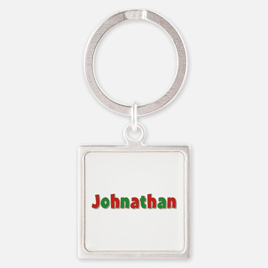 Johnathan Christmas Square Keychain