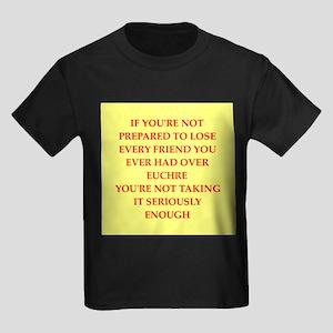 euchre Kids Dark T-Shirt