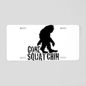 Gone Squatchin print 3 Aluminum License Plate