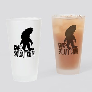 Gone Squatchin print 3 Drinking Glass