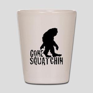 Gone Squatchin print 3 Shot Glass