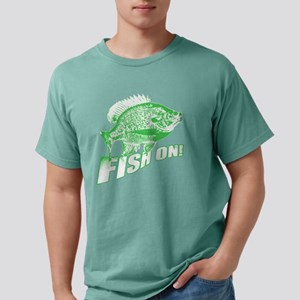 Bluegill Fish on Green Mens Comfort Colors Shirt