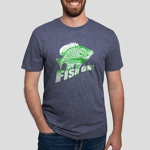 Bluegill Fish on Green Mens Tri-blend T-Shirt