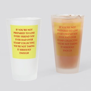 stamp collecting Drinking Glass
