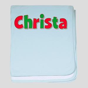 Christa Christmas baby blanket