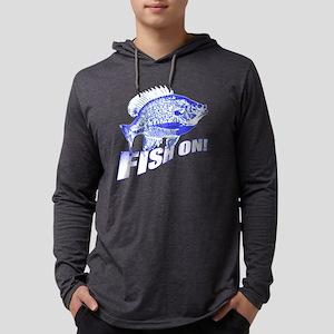 Bluegill Fish on blue Mens Hooded Shirt