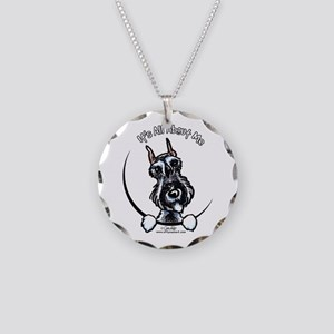 SP Schnauzer IAAM Necklace Circle Charm