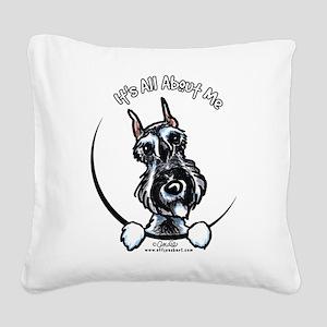 SP Schnauzer IAAM Square Canvas Pillow