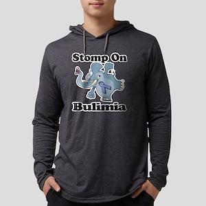 Elephant Stomp On Bulimia Mens Hooded Shirt