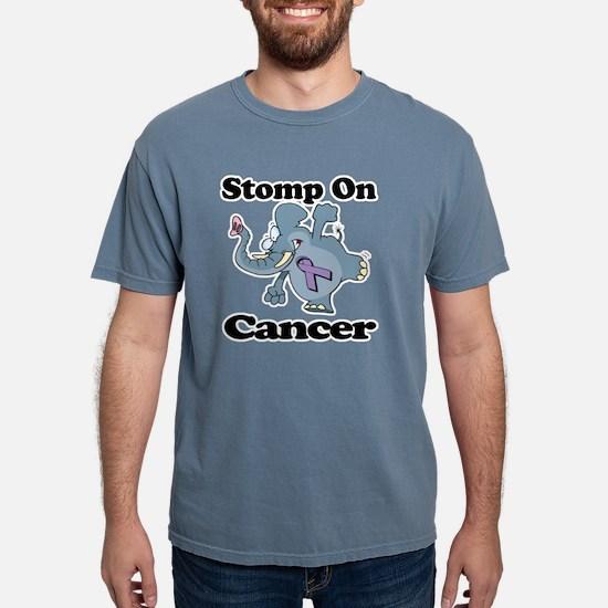 Elephant Stomp On Cancer Mens Comfort Colors Shirt