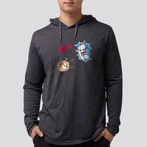 Milk and Cookies in love Mens Hooded Shirt