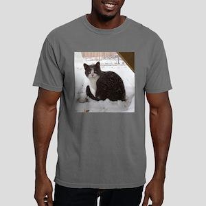 Snow Kitten Tile Mens Comfort Colors Shirt