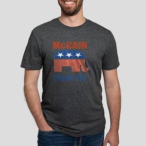 McCain Palin Republican Log Mens Tri-blend T-Shirt