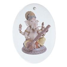 Ganesh / Sitar Ornament (Oval)