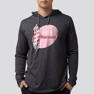 Free Haircuts Mens Hooded Shirt