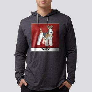 Fox Terrier 10x10 Mens Hooded Shirt