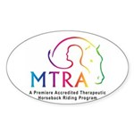 MTRA Rainbow Logo Sticker (Oval)