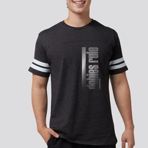 Doberman Pinscher Rules Mens Football T-Shirt