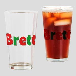 Brett Christmas Drinking Glass