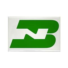 Burlington Northern Rectangle Magnet (100 pack)